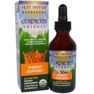 Fungi Perfecti, Host Defense Mushrooms, Organic Cordyceps Extract, Energy Support, 2 fl oz (60 ml)