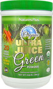 Natures Plus, Ultra Juice Green Powder, 0.66 lb (300 g)