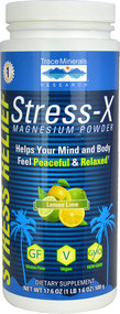 Trace Minerals Research Stress-X Magnesium Powder Dietary Supplement Lemon Lime -- 17.6 oz