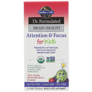 Garden of Life, Dr. Formulated Brain Health, Attention & Focus for Kids, Tasty Organic Watermelon Berry Flavor, 60 Yummy Chewables