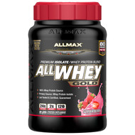 ALLMAX Nutrition, AllWhey Gold, 100% Whey Protein + Premium Whey Protein Isolate, Strawberry, 2 lbs (907 g)