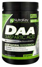 NutraKey DAA D-Aspartic Acid -- 100 Servings
