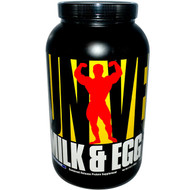 Universal Nutrition, Milk & Egg, Sustained Release Protein Supplement, Vanilla Flavor, Powder, 3 lbs (1.36