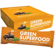 Amazing Grass Protein Superfood Organic Plant-Based Nutrition Bar Chocolate Peanut Butter - 12 Bars