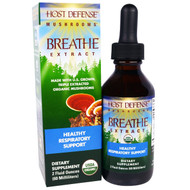 Fungi Perfecti, Host Defense Mushrooms, Breathe Extract, Organic Healthy Respiratory Support, 2 fl oz (60 ml)