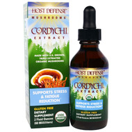 Fungi Perfecti, Host Defense Mushrooms, Organic Cordychi Extract, Supports Stress & Fatigue Reduction, 2 fl oz (60 ml)