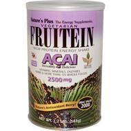 Nature's Plus, Fruitein, High Protein Energy Shake, Acai, 2500 mg, 1.2 lbs (544 g)