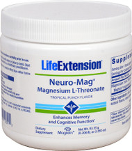 Life Extension Neuro-Mag Magnesium L-Threonate Tropical Punch - 30 Servings