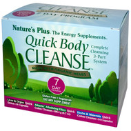 Natures Plus, Quick Body Cleanse, 7 Day Program, 3 Part Program