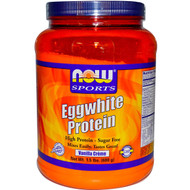 NOW Foods Sports Eggwhite Protein Vanilla Creme - 1.5 lbs