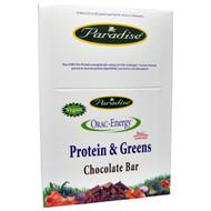 Paradise Herbs, ORAC-Energy, Protein & Greens, Chocolate Bar, 12 Bars, 2.22 oz (63 g) Each