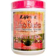 Life Time, Life's Basics, Plant Protein Powder, with 5 Fruit Blend, 21.6 oz (1 lb 5.6 oz)