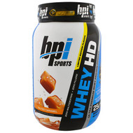 BPI Sports, Whey HD, Ultra Premium Whey Protein Powder, Salted Caramel, 2.04 lbs (925 g)