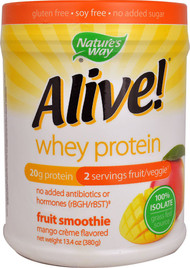 Natures Way Alive! Whey Protein Fruit Smoothie Mango Cr�me - 13.4 oz