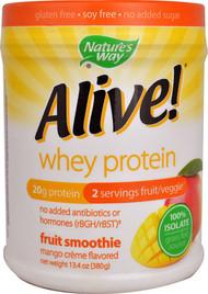 Natures Way Alive! Whey Protein Fruit Smoothie Mango Cr�me - 13.4 oz