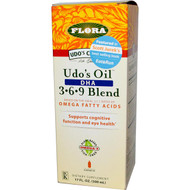 Flora, Udo's Choice, Udo's Oil DHA 3&·6&·9 Blend, 17 fl oz (500 ml)