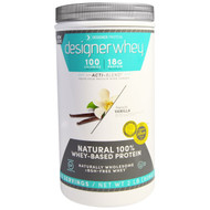 Designer Protein, Designer Whey, with Acti-Blend, Natural 100% Whey-Based Protein, French Vanilla, 2 lbs (908 g)