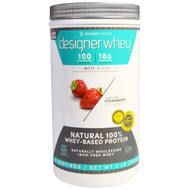 Designer Protein, Designer Whey, Natural 100% Whey Protein, Summer Strawberry, 2 lbs (908 g)