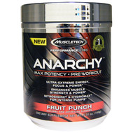 Muscletech, Anarchy, Max Potency, Pre-Workout, Fruit Punch, 5.31 oz (150 g)