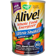 Nature's Way, Alive! Ultra-Shake, Whole Food Energizer, Vanilla Flavor, 34 oz (2.2 lb/975 g)