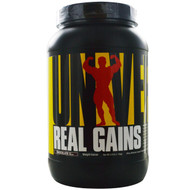 Universal Nutrition, Real Gains, Weight Gainer, Chocolate Ice Cream, 3.8 lb (1.73