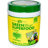 Amazing Grass, Green Superfood, Pineapple Lemongrass Flavored, 7.4 oz (210 g)