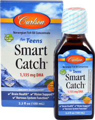 Carlson Smart Catch for Teens Natural Orange - 1135 mg - 3.3 fl oz