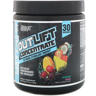 Nutrex Research, Outlift Concentrate, Explosive Performance Pre-Workout, Miami Vice, 6.6 oz (186 g)