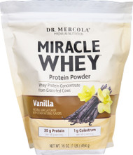 Dr. Mercola Miracle Whey Protein Powder Vanilla - 1 lb