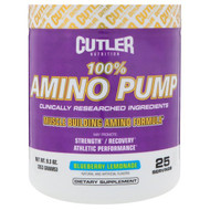 Cutler Nutrition, 100% Amino Pump, Blueberry Lemonade, 9.3 oz (263 g)