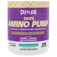 Cutler Nutrition, 100% Amino Pump, Blueberry Lemonade, 9.3 oz (263 g)