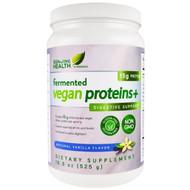 Genuine Health Corporation, Fermented Vegan Protein +, Digestive Support, Natural Vanilla Flavor, 18.5 oz (525 g)