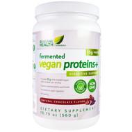 Genuine Health Corporation, Fermented Vegan Proteins, Digestive Support, Natural Chocolate Flavor, 19.75 oz (560 g)