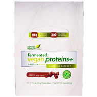 Genuine Health Fermented Vegan Proteins plus Protein Bars Digestive Support Double Chocolate Chip -- 12 Bars