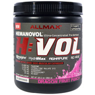 ALLMAX Nutrition, H:VOL, Nitric Oxide Pre-Workout + Vascular Blood Volumizer, Dragon Fruit Punch, 10.1 oz (285 g)