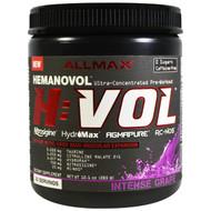 ALLMAX Nutrition, H:VOL, Nitric Oxide Pre-Workout + Vascular Blood Volumizer Intense Grape, 10.1 oz (285 g)