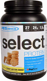 PEScience Select Protein Peanut Butter Cookie -- 27 Servings