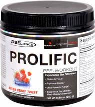 PEScience Prolific Pre-Workout Melon Berry Twist - 20 Servings