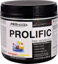 PEScience Prolific Pre-Workout Raspberry Lemonade -- 20 Servings