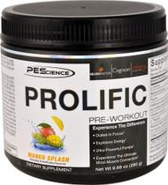 PEScience Prolific Pre-Workout Mango Splash - 20 Servings