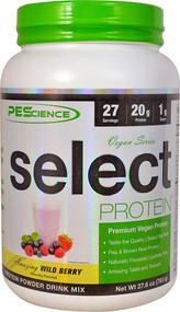 PEScience Select Vegan Protein Wild Berry - 27 Servings