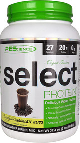 PEScience Select Vegan Protein Chocolate Bliss -- 27 Servings