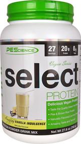 PEScience Select Vegan Protein Vanilla Indulgence -- 27 Servings