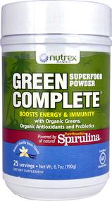 Nutrex Hawaii Green Complete Superfood Powder  Natural Vanilla Bean - 6.7 oz