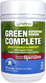Nutrex Hawaii, Hawaiian Spirulina, Green Complete Superfood Powder, Natural Vanilla, 6.70 oz (190 g)