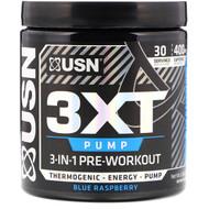 USN, 3XT- Pump, 3-In-1 Pre-Workout, Blue Raspberry, 6.56 oz (186 g)