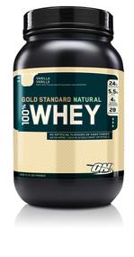 Optimum Nutrition, Gold Standard 100% Whey Naturally Flavored,  Vanilla - 1.9 lbs