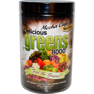 Greens World Inc., Delicious Greens 8000, Mocha Cafe, 10.6 oz (300 g)