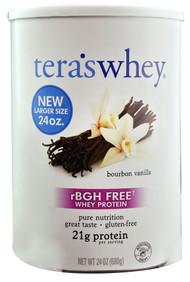 Teras Whey rBGH Free Grass Fed Simply Pure Whey Protein Bourbon Vanilla - 24 oz