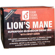 Four Sigmatic, Lions Mane, Mushroom Elixir Mix, 20 Packets, 0.1 oz (3 g) Each